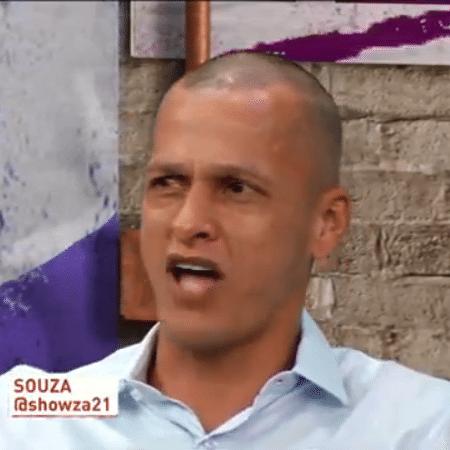 Souza, comentarista, do Os Donos da Bola, da TV Band - Reprodução/TV Band