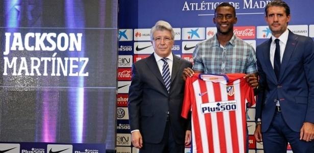 Jackson Martínez chegou com moral ao Atlético, mas não rendeu o esperado