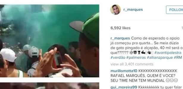Atacante provocou torcida santista em 2015, quando defendia o Palmeiras na Copa BR