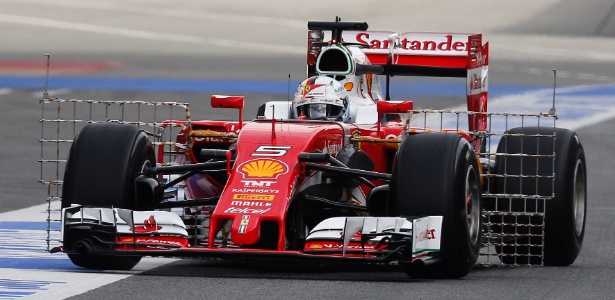 Alemão foi à pista com equipamento para coletar dados para a Ferrari - José Jordan/AFP Photo
