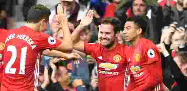 Mata comemora gol do Manchester United - Anthony Devlin/AFP - Anthony Devlin/AFP