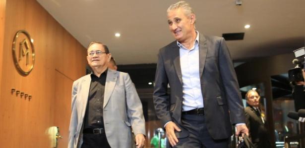 Coronel Nunes (e) vinha acompanhando a seleção brasileira em todos os jogos de 2016