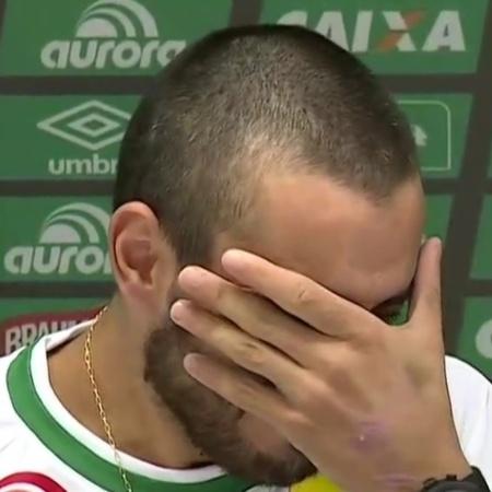 VT da entrevista do jogador da Chapecoense Alan Ruschel foi considerado desnecessário - Reprodução/SporTV