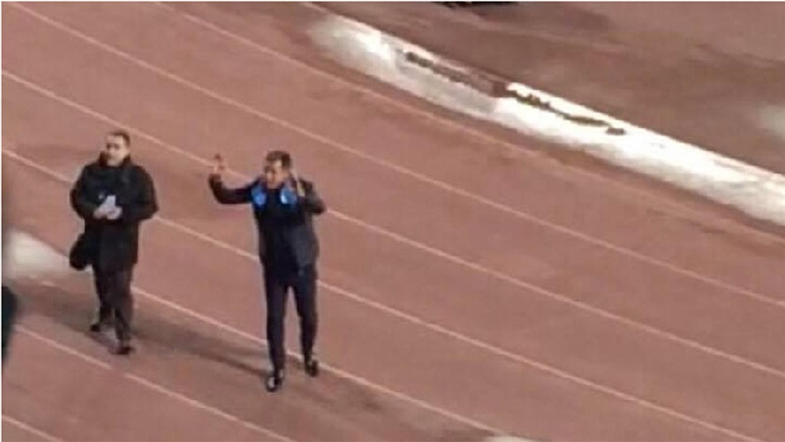 Careca é saudado por torcedores do Napoli antes de jogo contra o Real Madrid
