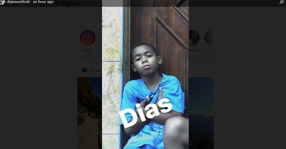 Gabriel Jesus quando era criança