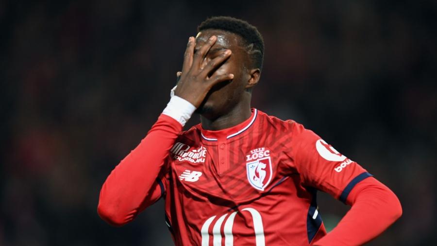 Nicolas Pepe comemora gol do Lille - Denis Charlet/AFP