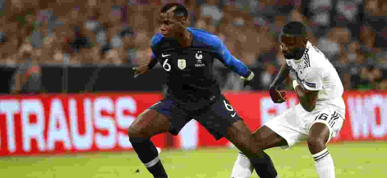 Paul Pogba, no empate em 0 a 0 entre França e Alemanha, pela Liga das Nações - Odd Anderson/ AFP
