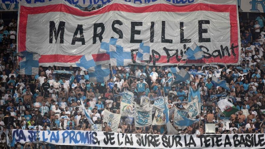 Torcida do Olympique de Marselha - Boris HORVAT / AFP