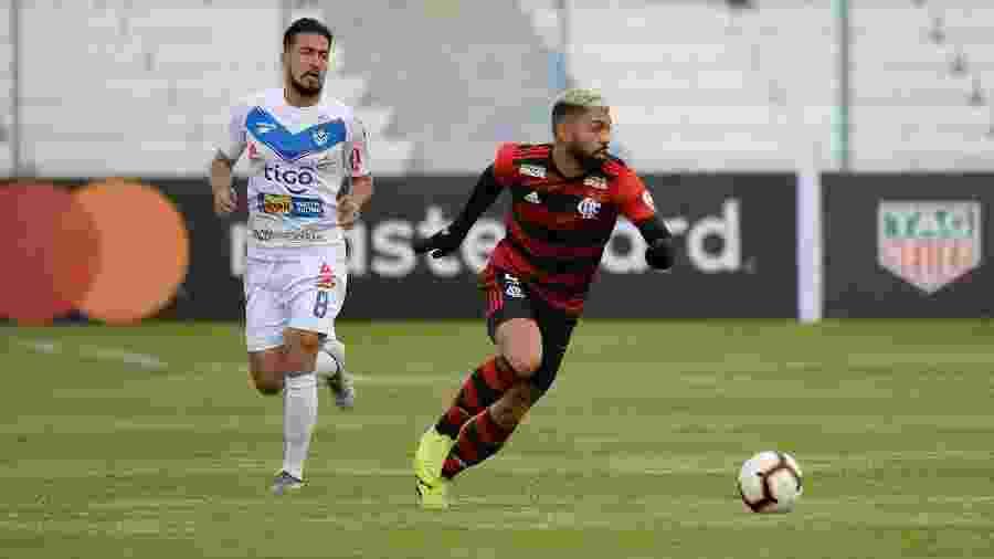 Gabigol marcou o gol da vitória do Flamengo na estreia da Libertadores - Alexandre Vidal / Flamengo