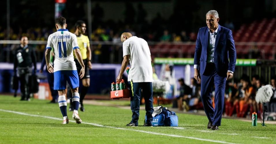Tite no primeiro jogo da Copa América entre Brasil e Bolívia