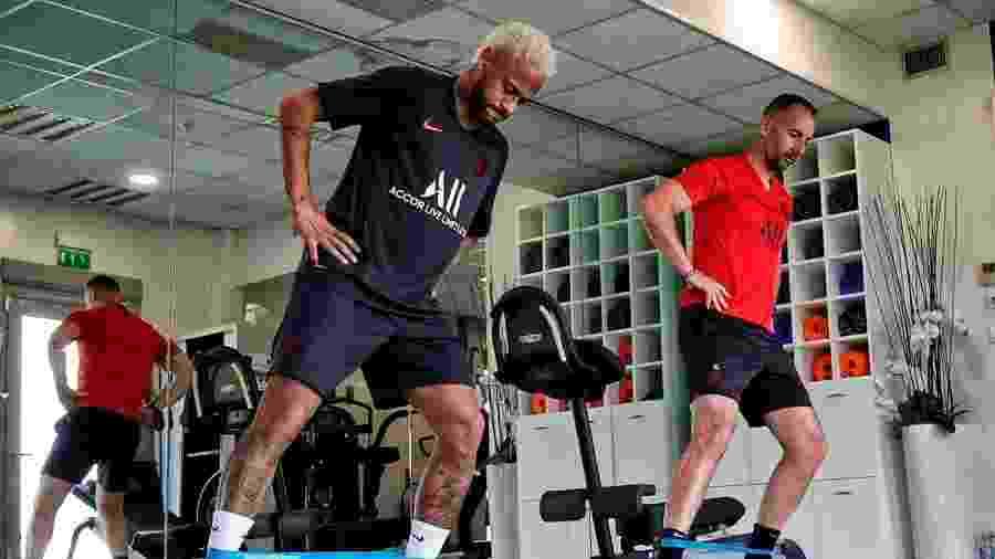 Neymar em sua reapresentação ao PSG em 15 de julho de 2019 - Reprodução/site do PSG