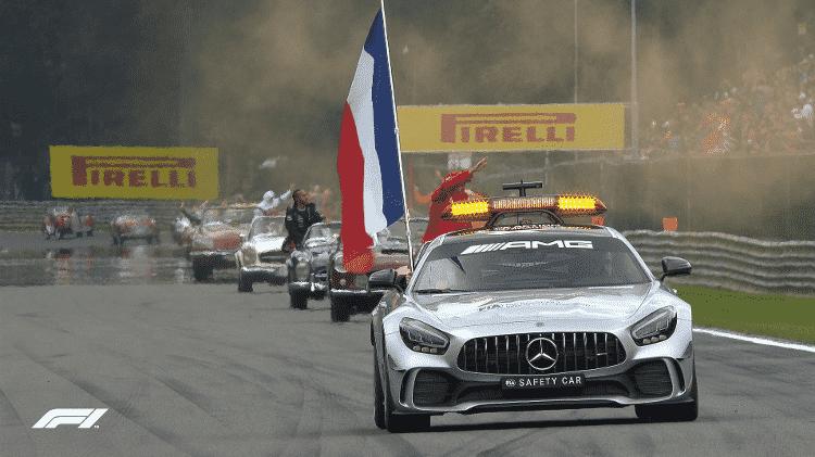 Safety car da F1 homenageia Hubert - Reprodução - Reprodução