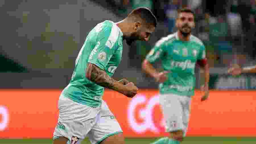 Zé Rafael comemora após marcar pelo Palmeiras contra o Ceará - Bruno Ulivieri/AGIF