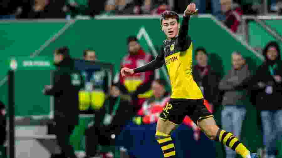 Giovanni Reyna, de 17 anos, do Borussia Dortmund, é alvo do Real Madrid  - Divulgação/Site oficial do Borussia Dortmund