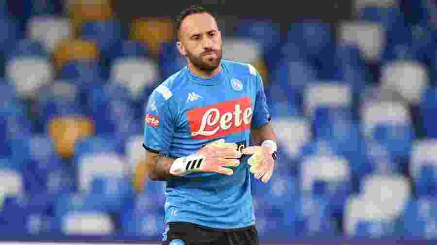 Ospina, goleiro do Napoli, foi destaque no empate em 1 a 1 que classificou o Napoli hoje (13) - Divulgação