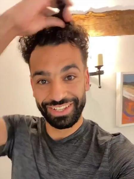 Salah exibiu seu novo penteado em suas redes sociais - Reprodução/Instagram