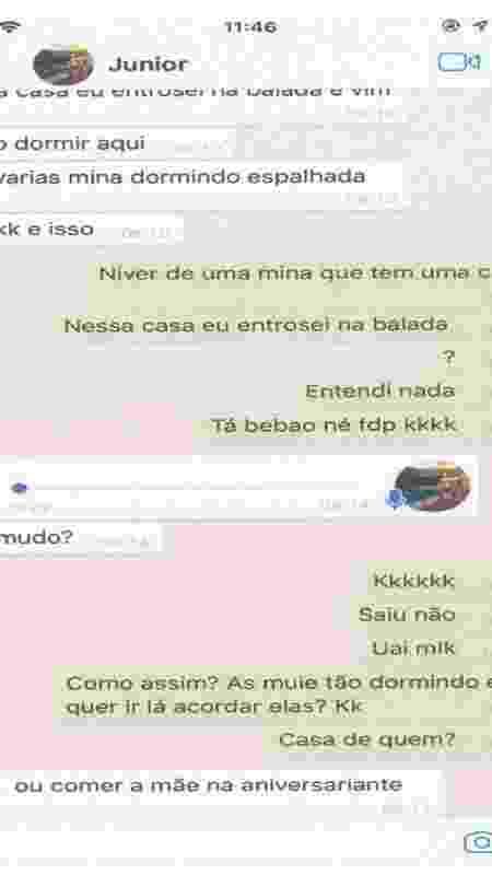 Trecho de conversa de WhatsApp de Daniel Corrêa com amigo Eduardo Flamel - Reprodução - Reprodução