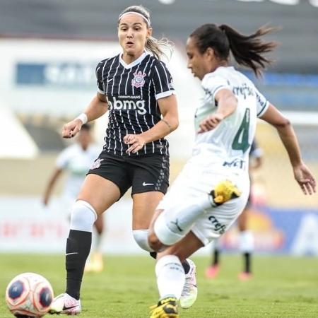 Giovana Crivelari marcou um dos gols do Corinthians contra o Palmeiras - Rodrigo Coca/Agência Corinthians