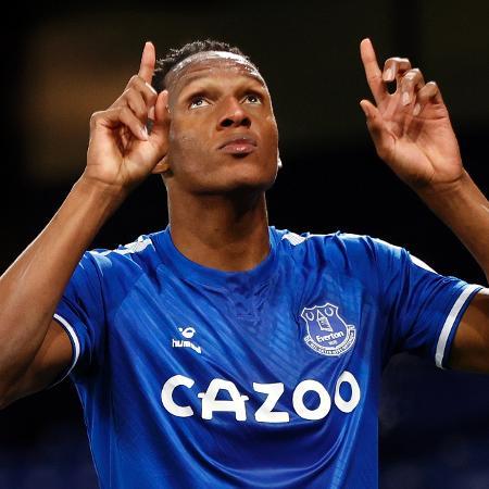 O zagueiro colombiano Yerry Mina, do Everton - CLIVE BRUNSKILL/AFP