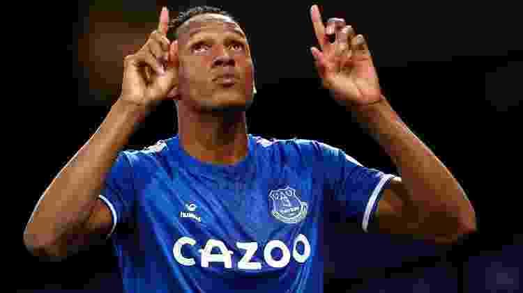 Mina marcou o gol da vitória do Everton sobre o Arsenal - CLIVE BRUNSKILL/AFP - CLIVE BRUNSKILL/AFP
