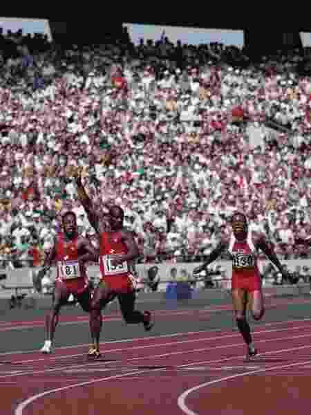 Ben Johnson, nos 100m dos Jogos de Sydney-1988 - Mike Powell/Getty Images - Mike Powell/Getty Images