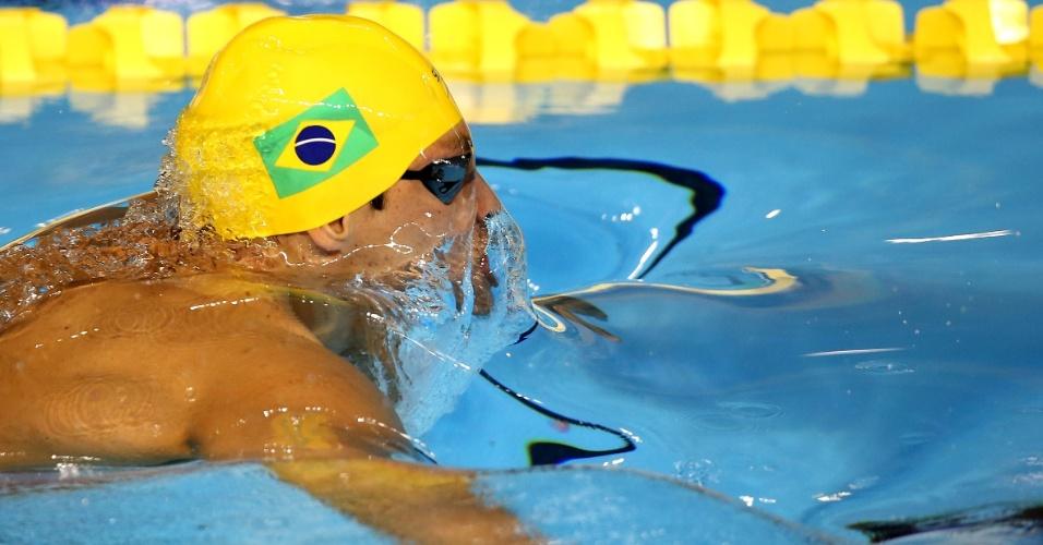Thiago Simon se classificou em primeiro na bateria eliminatória dos 200m peito
