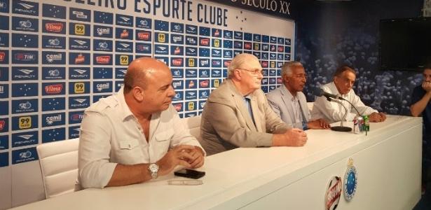 Por meses, Gilvan, Benecy e Valdir Barbosa dividiram as tarefas da diretoria de futebol - Divulgação/Cruzeiro