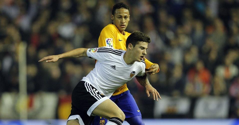 Neymat briga por espaço com Santi Mina no duelo entre Barcelona e Valencia