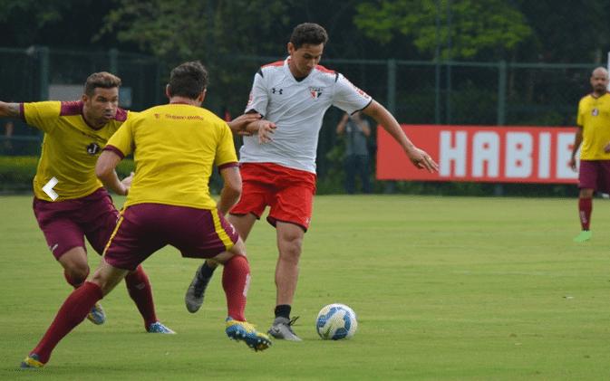 Ganso, meia do São Paulo, em jogo-treino contra o Juventus