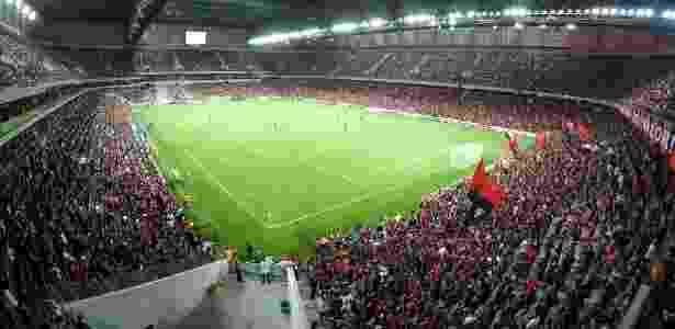 Gramado sintético da Arena foi elogiado por Zé Ricardo, técnico do Flamengo - Mauricio Mano/Site Oficial do Atlético-PR