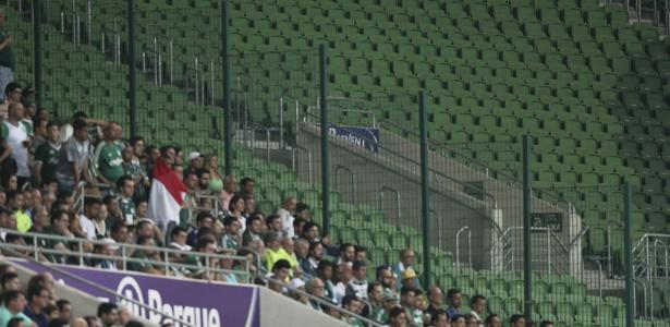 Durante a partida entre as equipes, o Allianz Parque teve áreas sem torcida por conta de punição aos dois clubes