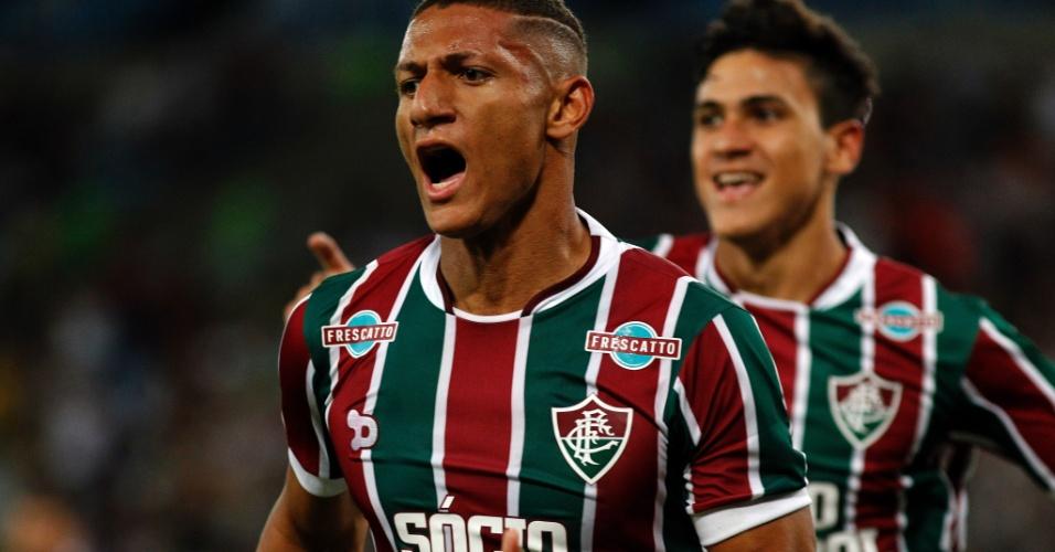 Richarlison comemora gol do Fluminense diante do Vasco nas semifinais do Campeonato Carioca 2017