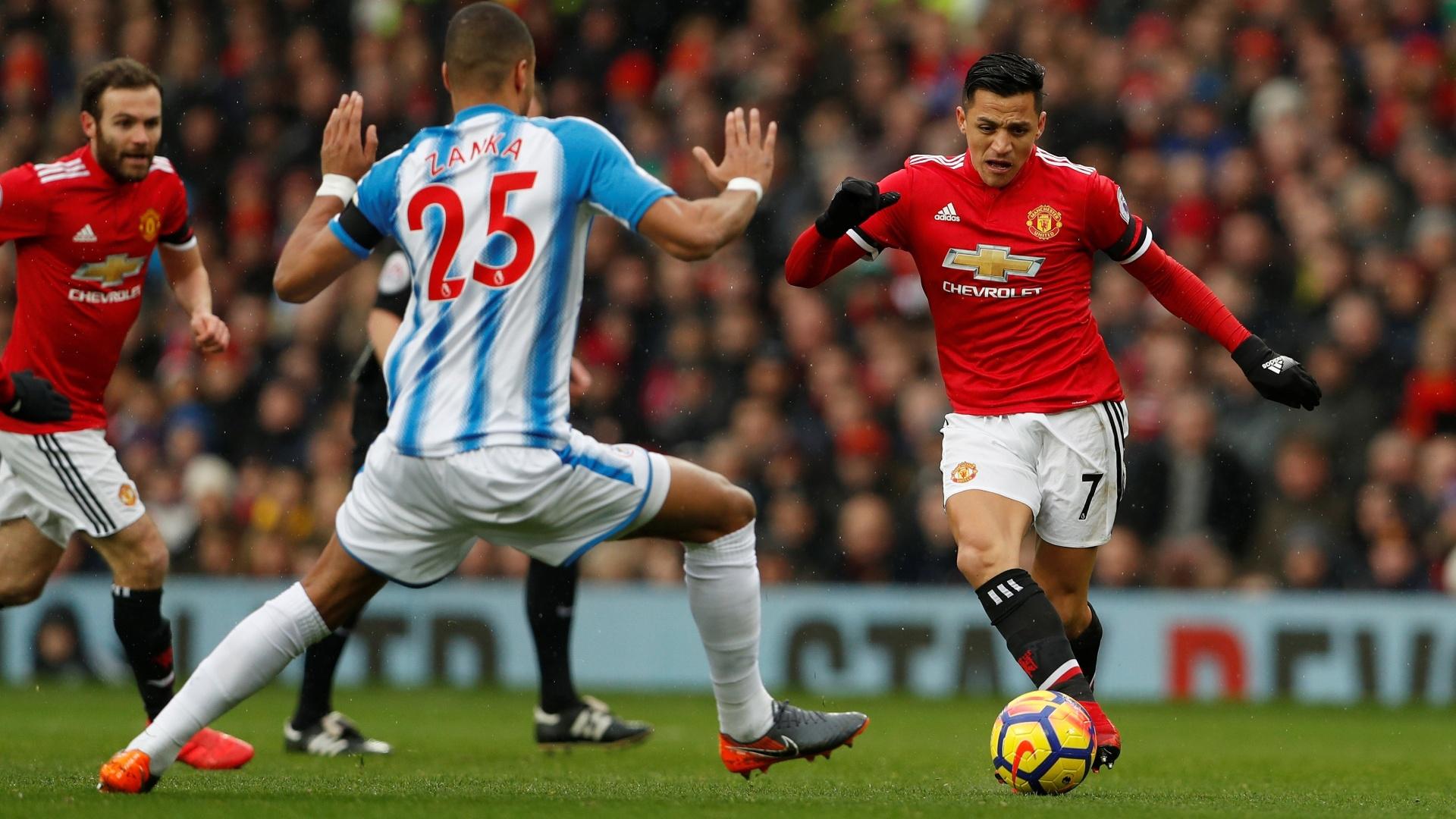 Alexis Sánchez faz a sua estreia no Old Trafford com a camisa do Manchester United