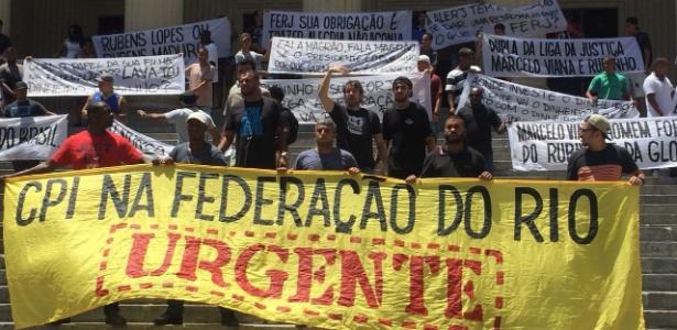 Organizadas de Botafogo e Flamengo protestam contra Federação do Rio - Divulgação