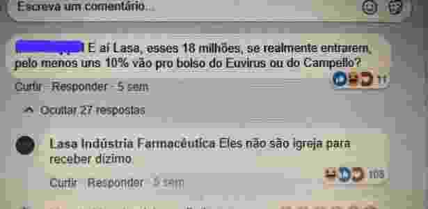 Perfil da Lasa no Facebook parou de interagir faz três semanas - Divulgação / Facebook - Divulgação / Facebook