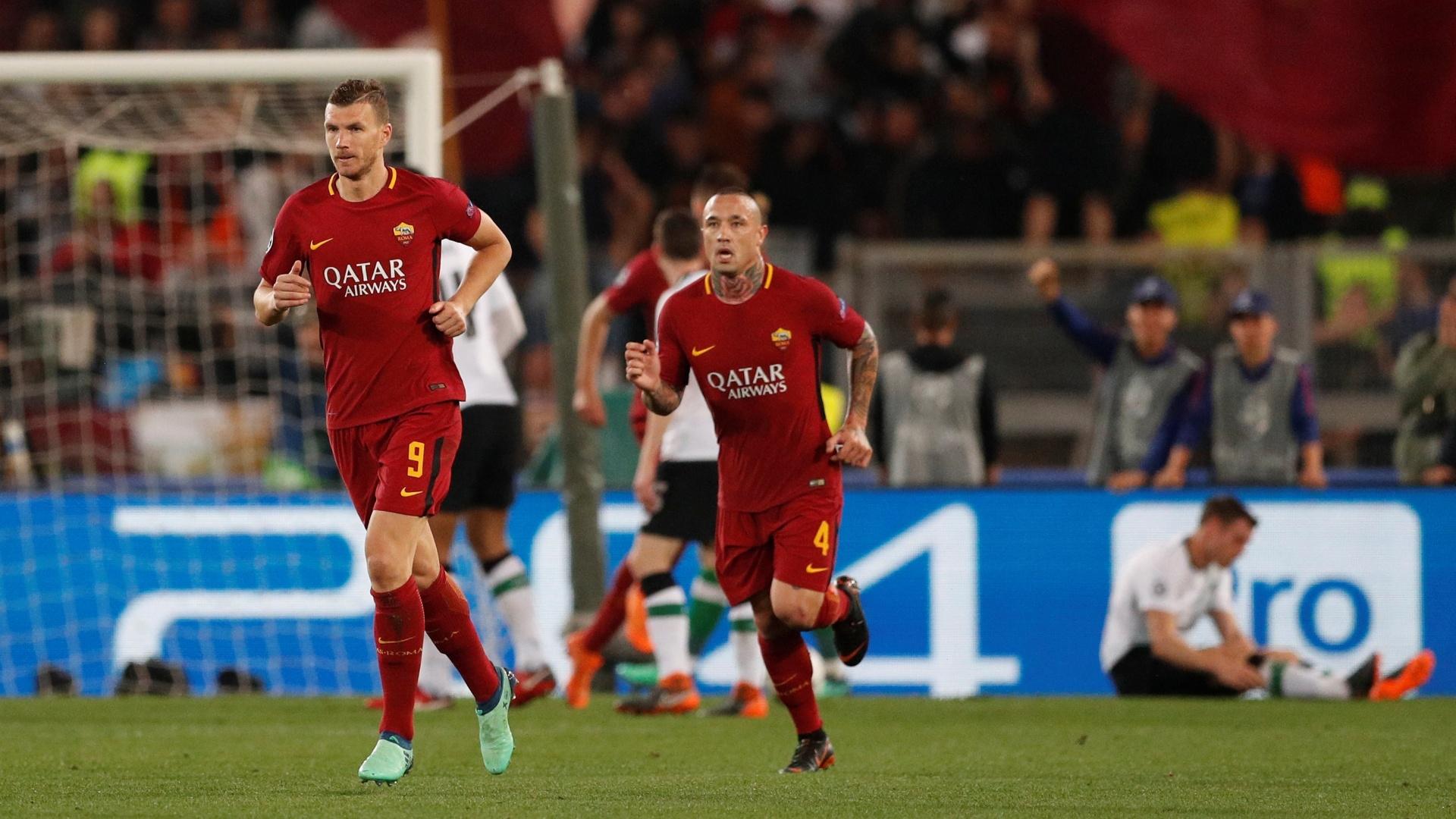 Edin Dzeko fez o segundo gol da Roma na partida