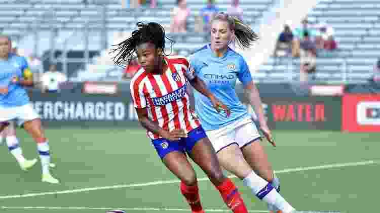 Ludmila é um dos destaques do time feminino do Atlético de Madri - Grant Halverson/International Champions Cup/Getty Images