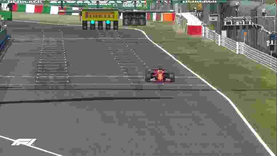 Sebastian Vettel conquista a pole position do GP do Japão de Fórmula 1 - Reprodução/Twitter/F1