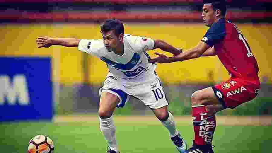 Marcelo Gomes em ação pelo San José - Arquivo pessoal