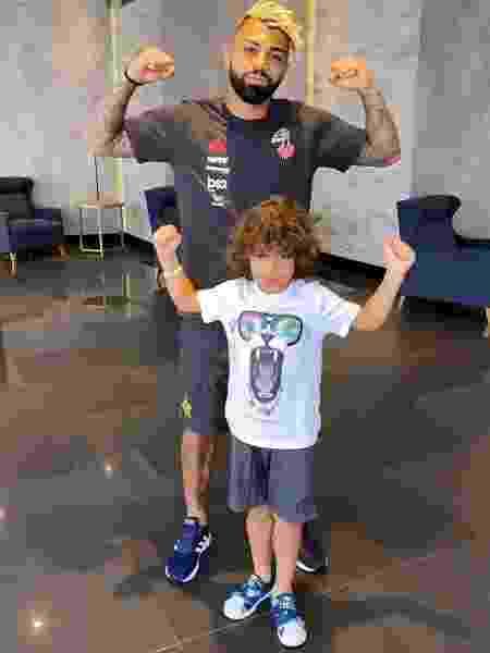 Gabigol e Luke, filho de Felipe Melo - Reprodução/Twitter
