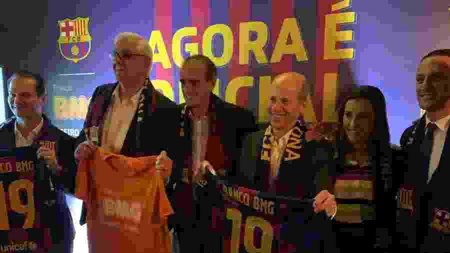Barcelona e Banco BMG assinaram uma parceria de dez temporadas - Divulgação/Banco BMG