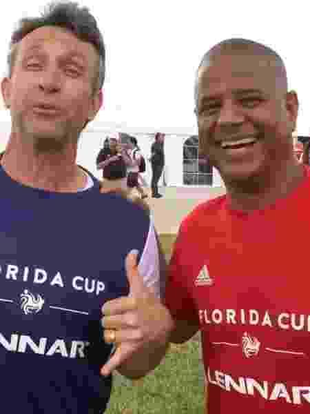 Neto e Marcelinho Carioca apareceram juntos em vídeo publicado no Twitter do Corinthians - Reprodução/Twitter