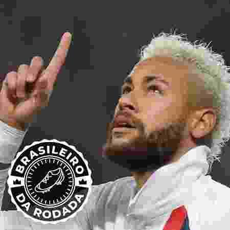 Neymar se destaca na rodada ao marcar duas vezes pelo PSG contra o Lille - DENIS CHARLET / AFP/Arte UOL