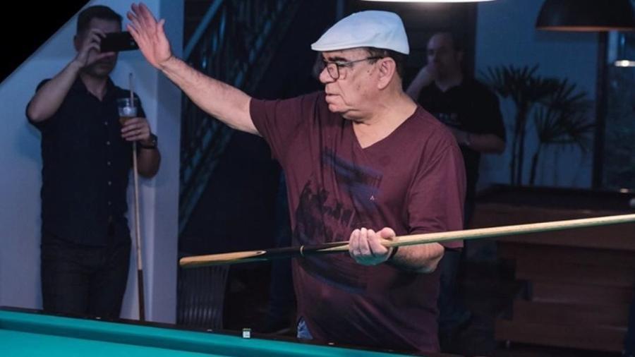 """Rui Chapéu fez sucesso com a sinuca nos tempos de """"Show do Esporte"""" - Reprodução/Instagram"""