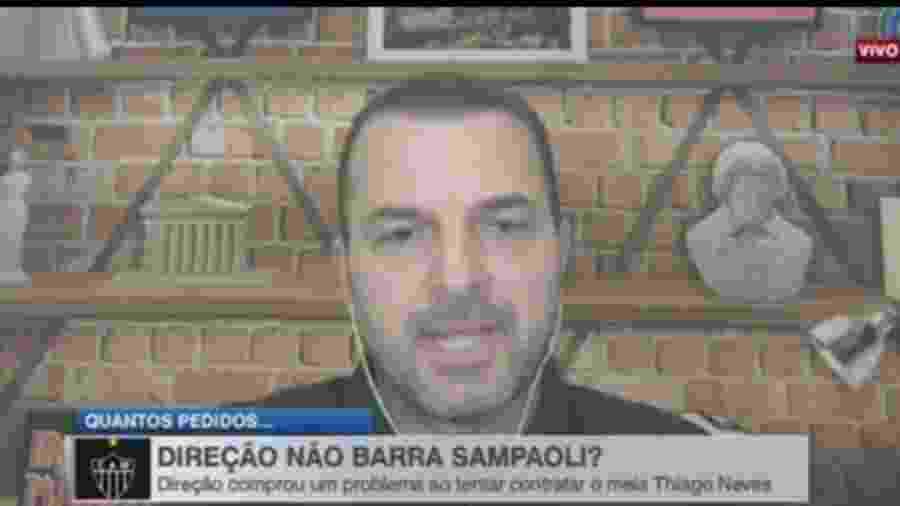Zé Elias detona Sampaoli por interesse em Thiago Neves - Reprodução/ESPN