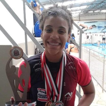 Mariana Franklin Ferreira Silva, nadadora de 14 anos que morreu em decorrência da covid-19 - Arquivo Pessoal