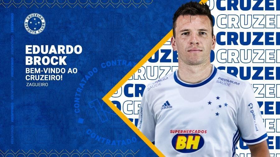 Eduardo Brock, novo zagueiro do Cruzeiro - Divulgação/Cruzeiro