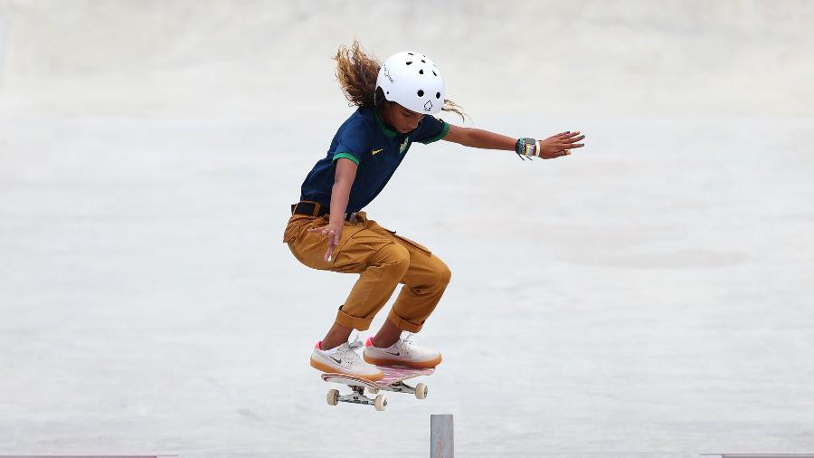 Rayssa Leal foi medalha de prata no skate nas Olimpíadas de Tóquio - Patrick Smith/Getty Images