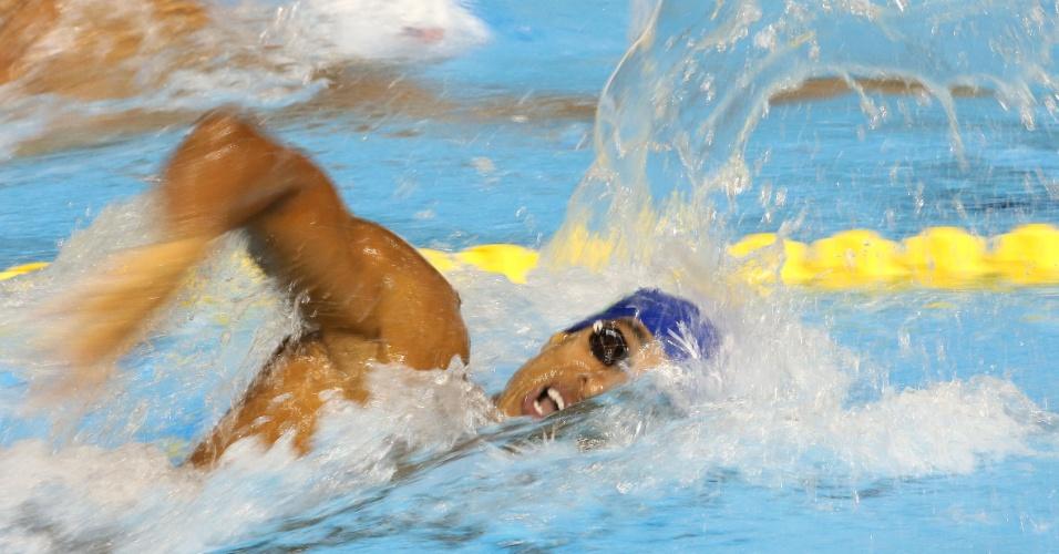 Nicolas Oliveira se classificou na segunda posição de sua bateria para a final dos 200m livres masculino