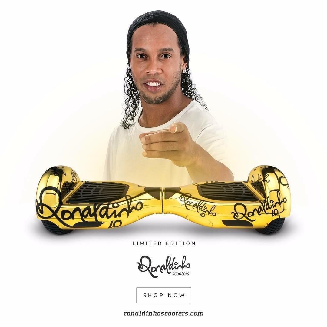 Ronaldinho Gaúcho lançou linha de scooters